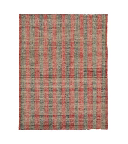 Clavo Rug - Red Madder/Blue