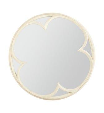 Clover Mirror - Distressed Grey