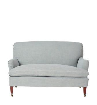 Coleridge 2 Seater (127x92x82cmH) - Ice Blue