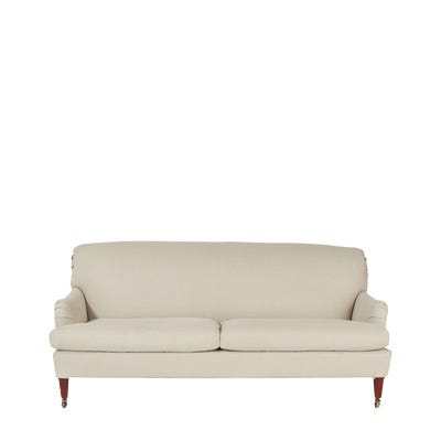 Coleridge 3-Seater Sofa With Natural Linen Cover