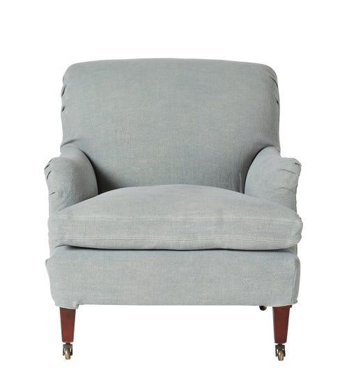 Coleridge Armchair Cover - Ice Blue