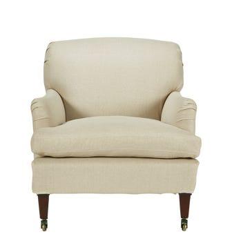 Linen Slipcover For Coleridge Armchair - Natural