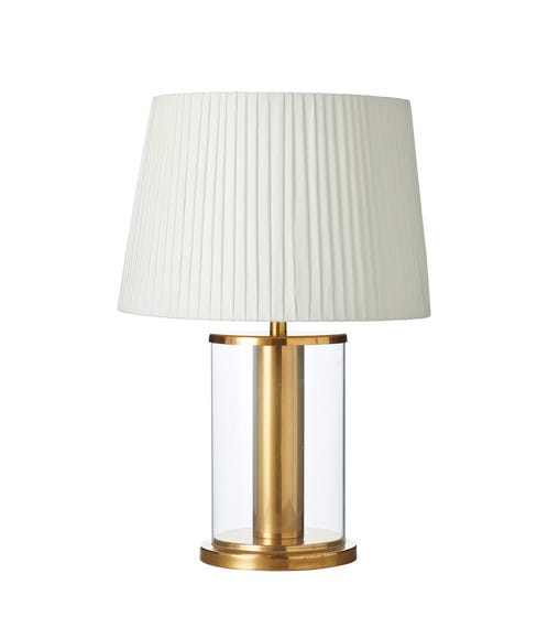 Corlo Table Lamp - Antique Gold/Clear