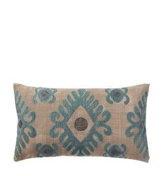 Cornaro Cushion Cover (60x35cm) - Natural/Teal