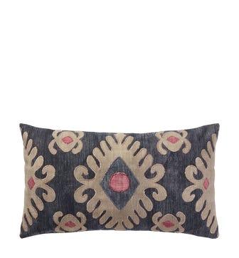 Cornaro Pillow Cover - Blue/Natural