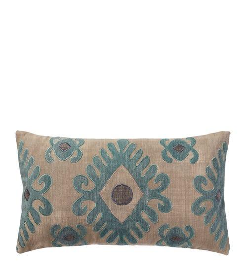 Cornaro Pillow Cover - Natural/Teal