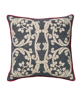 Cosmati?Cushion Cover - Ink Blue