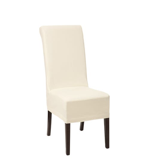 Cotton Slip Cover for Echo Dining Chair-Off-White