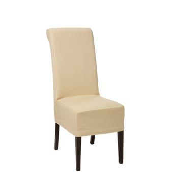 Cotton Slip Cover for Echo Dining Chair - Oatmeal
