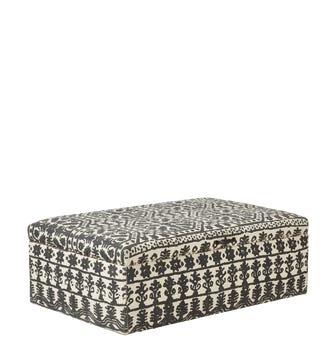 Cranesbill Upholstered Ottoman - Soft charcoal