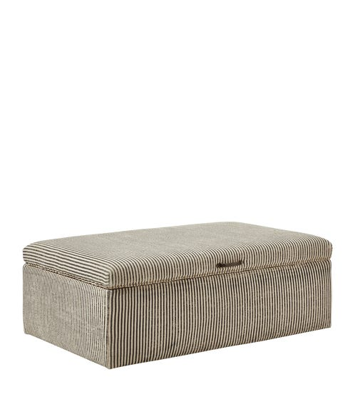 Crusoe Upholstered Ottoman - Soft Charcoal
