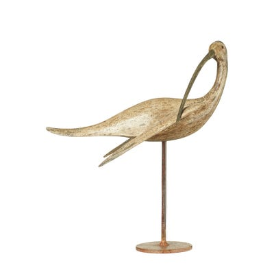 Curlew On A Stand - Distressed Grey