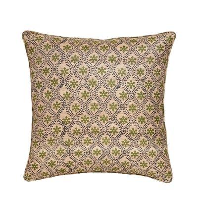 Cyma Pillow Cover - Green/Natural