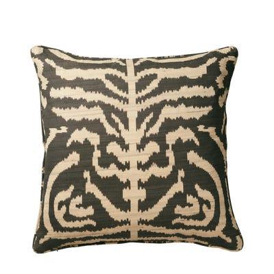 Dahan Ikat Pillow Cover - Black