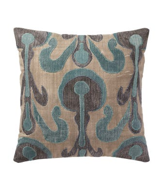 Dandolo Cushion Cover (56cmSq) - Blue/Natural