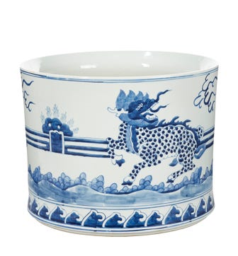 Daqing Planter, Large - Blue/White