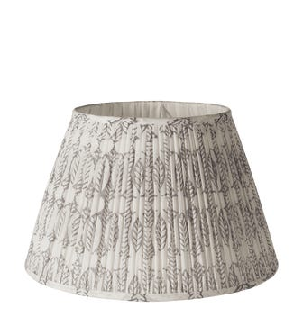 Daun Pleated Cotton Lampshade 35Dia & Carrier - Poppy Seed