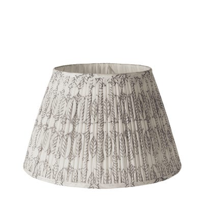 14in Pleated Daun Cotton Lampshade - Poppy Seed