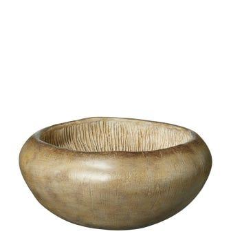 Decorative Field Blewitt Mushroom Bowl - Brown