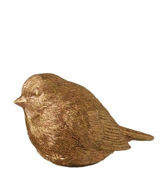 Decorative Robin - Gold