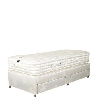 Deluxe Single Mattress & Divan Bed - White