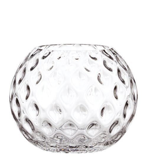Divot Vase, Round - Clear