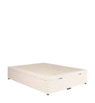 Double Divan Base With Storage - Natural