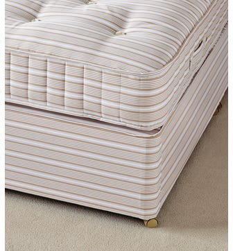 Double Divan Bed Base without Drawers - Natural