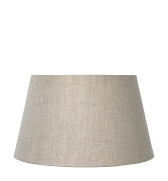 Drum Fabric Shade, 10in / 26cm, Linen - Natural