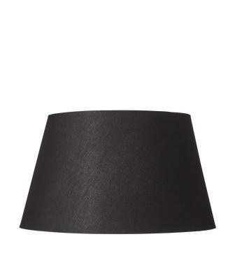 15.5in Drum Cotton Lampshade - Black
