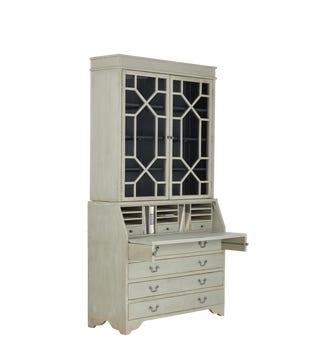 Drummond Solid Recycled Pine Cabinet - Warm Grey