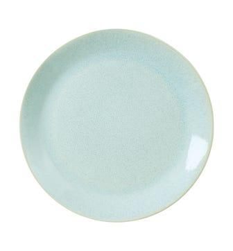 Duck Egg Dessert Plate, Celadon Glaze - Blue