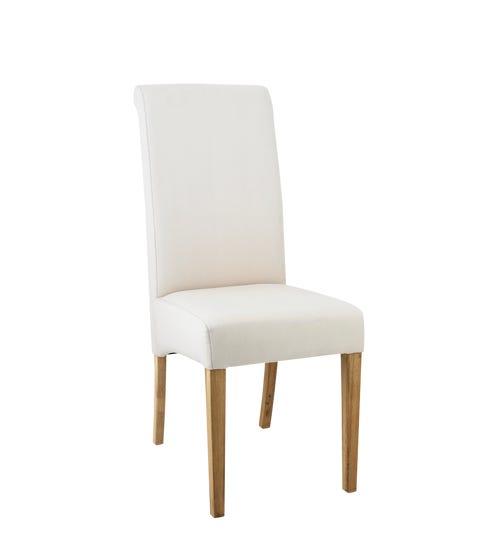 Echo High-Back Dining Chair, Oak Legs