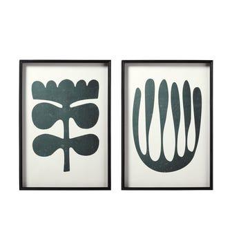 Pair of Eferi Framed Prints - Black/White
