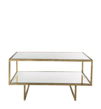 Merle Coffee Table - Antiqued Glass