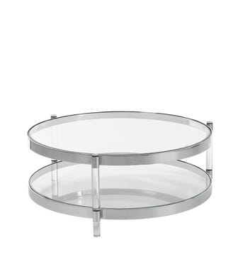 Hatta Coffee Table - Glass/Chrome