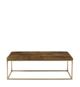 Birell Dyed Goat Hair Coffee Table - Leopard