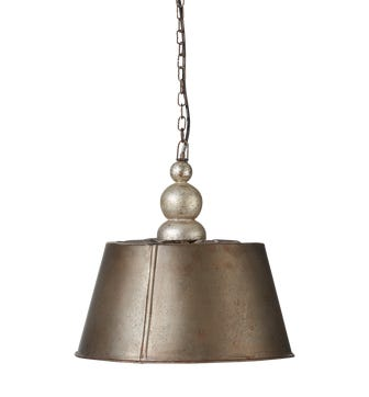 Ellington Hanging Light, Small - Antique Silver