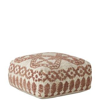 Ely Floor Cushion - Rosy Brown