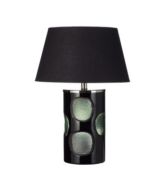 Eustace Glass Table Lamp - Green