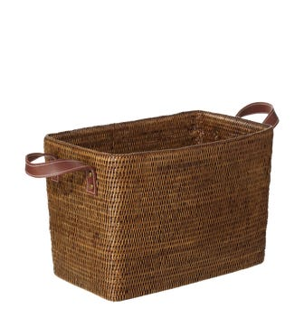 Fairfax Rattan Basket, Small - Brown