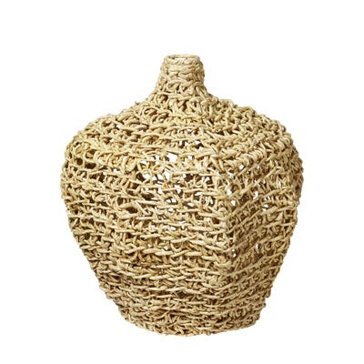 Faiyum Basket Vase - Light Natural