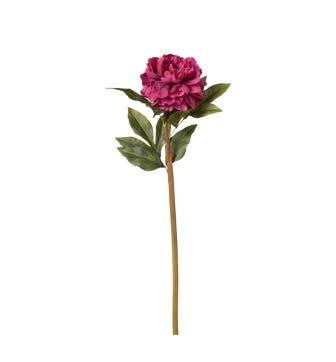Faux Camellia Stem - Dark Pink