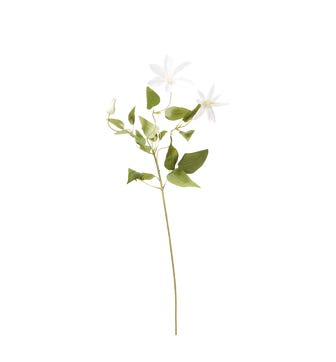 Faux Clematis Stem - White