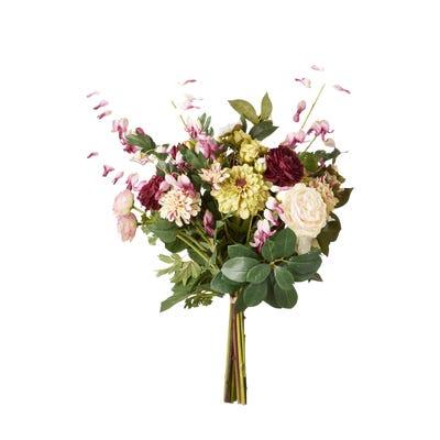 Faux Dahlia, Dicentra, Ranunculus & Rose Bunch - Multi