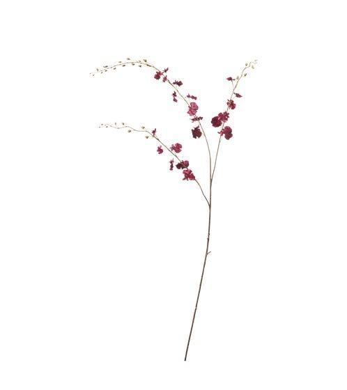 Faux Dancing Lady Orchid Stem - Deep Purple