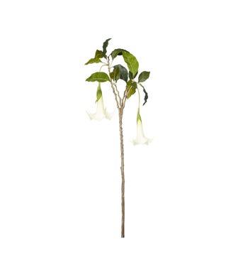 Faux Datura Branch - Cream