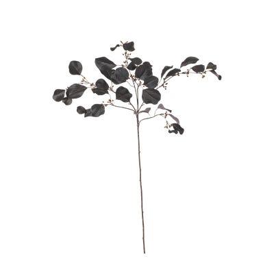 Faux Eucalyptus Stem - Dark Brown/Burgundy
