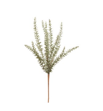 Faux Evergreen Pine Branch - Green