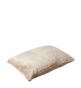 Faux Fur Pet Cushion Cover Large - Seal Grey